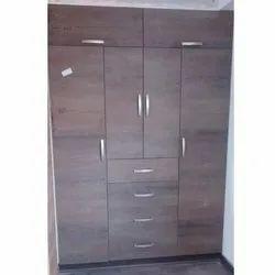Plywood,Action Tesa Board 4 Doors Brown Wooden Almirah