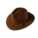 Tm Exports Brown Mens Cowboy Leather Hat