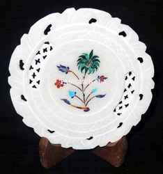 Stone Inlay Home Decorative Plate