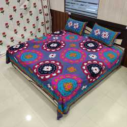 Indian Hand Embroidered Suzani Bedsheet