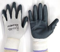 White Nylon Shell With Grey Nitrile Dipped Glove Midas Make