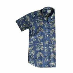 Alpha Printed Mens Stylish Cotton Shirt, Handwash