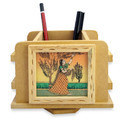 Rajasthani Gemstone Wooden Pen & Pencil Holder