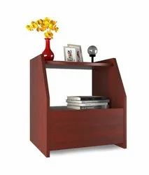 Forzza FO-ST21Mh Bolt Side Table With Drawer (Mahogany)