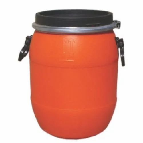 Orange 55 Liter HDPE Open Top Drum