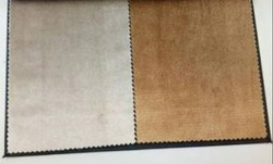 Cream, Brown Texture Imported Suede Sofa Fabric