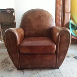 Leather Single Seater Living Room Sofa