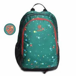 Polka-Dots-Green School Bag