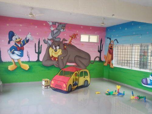 Acrylic Nursery School Wall Painting Rs 50 square feet School