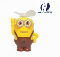 WAH NOTION Mini Portable Minion Toy Fan For Kids Yellow
