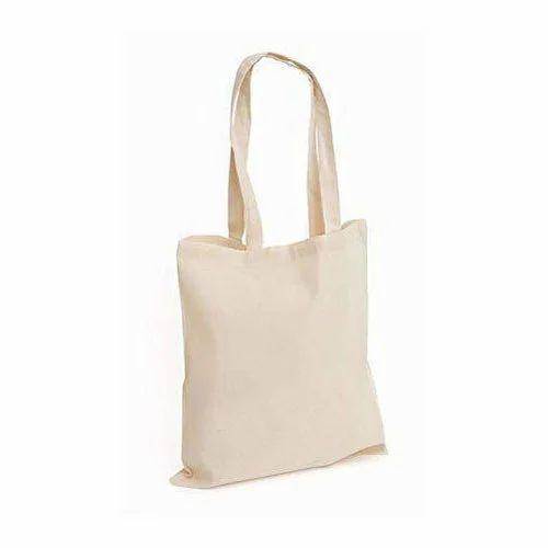 35b3e0b76 Plain Cream Canvas Cotton Bag, Rs 60 /piece, Sudharsan Exports | ID ...