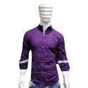 Purple Plain Mens Cotton Shirt