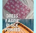"""44-45"""" Pink And White Fancy Block Printed Fabric, For Garments"""