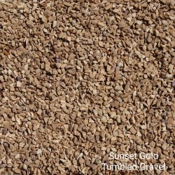 Sunset Gold Tumbled Gravel, For Landscaping,Pavement, Packaging Type: Gunny Bag