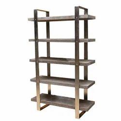 Metal, Wood Kernig Krafts Industrial Book Rack, For Home, Office