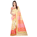 Jacquard Sarees With Blouse Piece, Saree Length: 6.3 M
