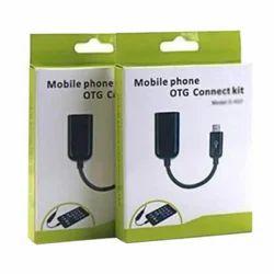 Black Mobile Phone OTG Connect Kit