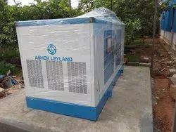 Three phase Water Cooling 82.5KVA SILENT Ashok Leyland Genset, 415