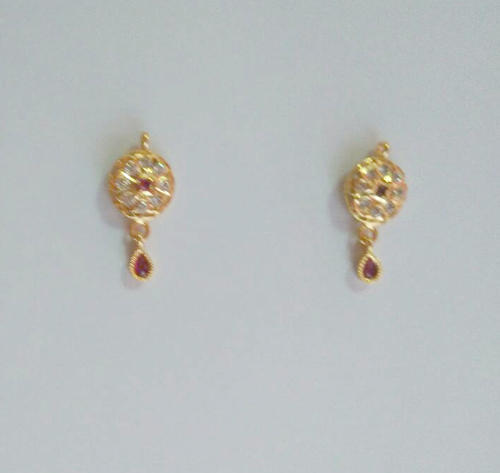 Raj12002 Gold Plated Earring ग ल ड प ल ट ड