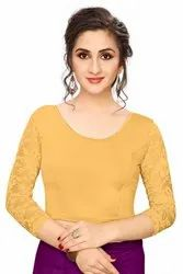 Jelite Stretchable Shimmer Saree Blouse