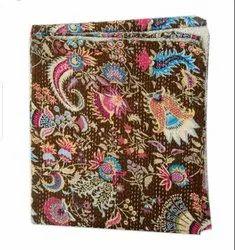 Jaipuri Block Printed Kantha Bedspread
