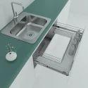 Drawer Sink Basket Solid Base 900