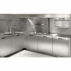 L Shape SS Modular Kitchen