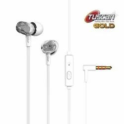 Mobile Tuscan White Wired Earphone