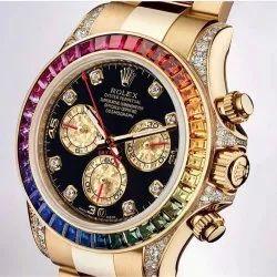 Golden Luxury(Premium) Rolex Rainbow Watch