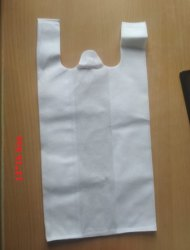 W- Cut Non Woven Carry Bags-Custom Size for Grocery