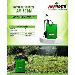 Agrimate Pp Battery Powered Knapsack Sprayer, 16 Litre
