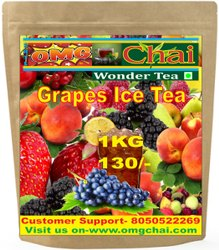 OMG Chai 12 Months Grapes Ice Tea, Packaging Type: Bag