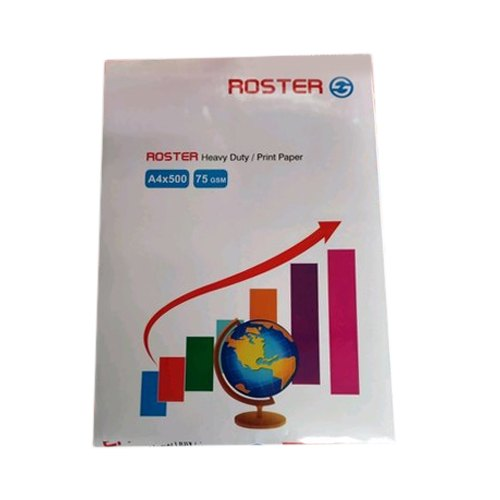 Roaster A4 Size Copier Paper, GSM: 75 GSM