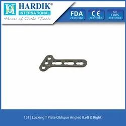 Oblique Angled Locking Compression T Plate  3.5mm