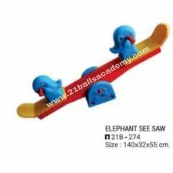 Elephant Seasaw, Size: 140x32x55 cm
