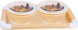 Various Rema - Delicacy - Set Of 2 Airtight Bowls With Tray