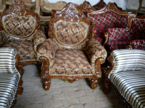 Enjoyable Compact Wooden Sofa Set Bralicious Painted Fabric Chair Ideas Braliciousco