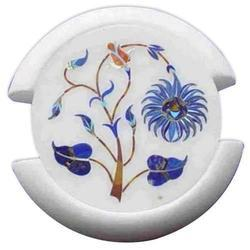 Marble Inlay Coaster Set Home Decor