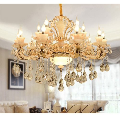 Led Round Living Room Crystal Hanging, Where To Hang Chandelier In Living Room