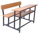 2 Seater Wooden Desk Bench