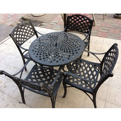 outdoor cast iron garden table chair