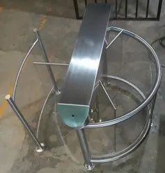 Half Height Glass Turnstile