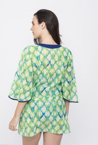 7df1960478 Printed 3/4 Kai Lime Draw String Kaftaan, Rs 3099 /piece, KAI Resort ...