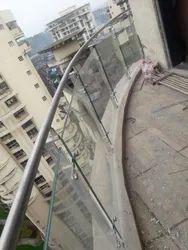 Panel Balcony Steel Glass Railing