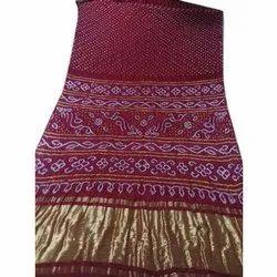 Silk Party Wear Bandhej Saree, 6.5 m(Separate blouse piece)