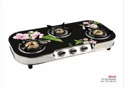 MC-326 Glass Three Burner Stove