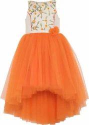 Cotton Kids Orange Dress