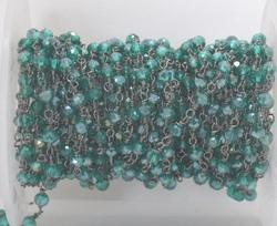 Green Mystic Beaded Jewelry Chain