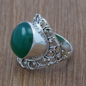 Green Onyx Gemstone 925 Sterling Silver Jewelry Ring