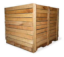 Brown Wooden Pallet Boxes